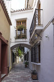 Streets of the old town of Marbella, Andalusia Royalty Free Stock Photography