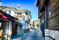 The streets of the old town of Nessebar, Bulgaria Stock Photography