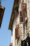 Streets of the old town of Porec, Istria, Croatia Royalty Free Stock Photos