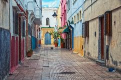 Streets of old town Rabat medina, Morocco Royalty Free Stock Photos