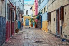 Streets of old town Rabat medina, Morocco Royalty Free Stock Photos