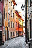 Streets of old town . Stocholm Royalty Free Stock Photo