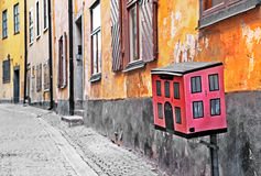 Streets of old town . Stocholm Stock Photos