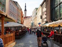 Streets of the Old Town Tallinn. Royalty Free Stock Photo