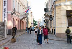 Streets of Old Town Tallinn stock photography