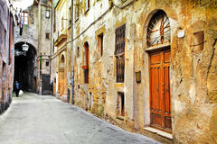 Streets of old Tuscany, Italy stock photos