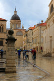 streets of Dubrovnik Croatia Stock Photo