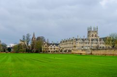 All Souls College, Oxfordshire, United Kingdom, Europe. Streets of Oxford - landmark, England - overview from a church`s tower with the Bodleian Libraryand All stock image