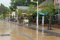 The streets of Palanga city in Lithuania Stock Photography