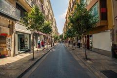 Streets of Palma de mallorca royalty free stock photography
