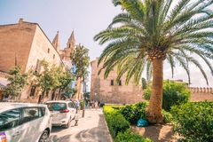 Streets of Palma de mallorca stock photos