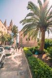 Streets of Palma de mallorca stock image
