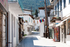 Streets of Panagia, Greece Royalty Free Stock Image