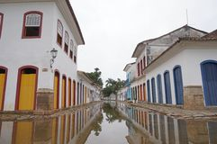 In the streets of Paraty Stock Images