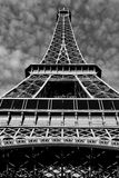 Streets of Paris in black and white. Eiffel Tower Royalty Free Stock Images