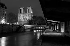 Streets of Paris in black and white. Eiffel Tower. France royalty free stock images