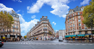 Streets of Paris, France in autumn. Royalty Free Stock Image