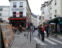 The streets of Paris. Royalty Free Stock Images