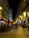 Streets of Paris at Night Stock Photography