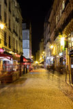 Streets of Paris at Night Royalty Free Stock Photos