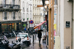 Streets of Paris in the Rain Royalty Free Stock Images