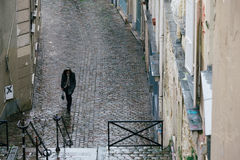 Streets of Paris in the Rain Royalty Free Stock Photos
