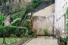 Streets of Paris in the Rain Stock Photos