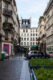 The streets of Paris on a rainy day Stock Photography