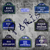 Streets of Paris signs Royalty Free Stock Photography