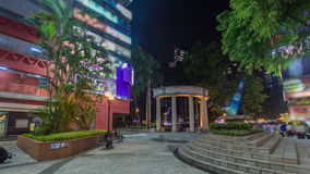 Streets and park of Hong Kong at night timelapse hyperlapse. stock video footage