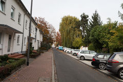 Streets with parking. Frankfurt am main Stock Images