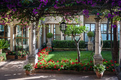 Streets and parks of Taormina Stock Photography