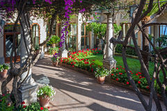 Streets and parks of Taormina Stock Images