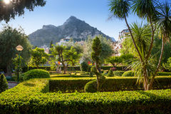 Streets and parks of Taormina Royalty Free Stock Image