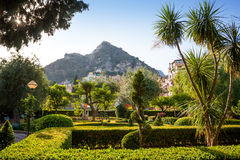 Streets and parks of Taormina Stock Photo