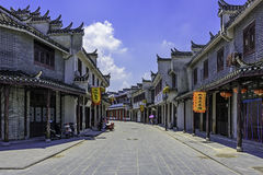 streets paved with rectangular stone plate Stock Images