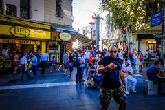Streets And People Of Istanbul royalty free stock photos