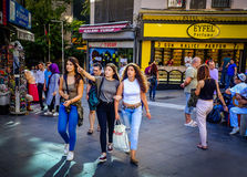 Streets And People Of Istanbul royalty free stock photography