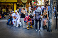 Streets And People Of Istanbul royalty free stock images