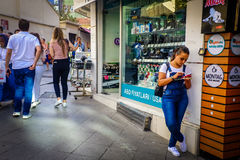 Streets And People Of Istanbul stock photography