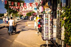 Streets And People Of Turkish Summer Vacation Town Stock Image