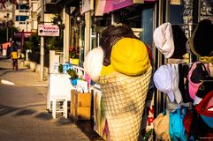 Streets And People Of Turkish Summer Vacation Town Royalty Free Stock Image