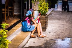 Streets And People Of Turkish Summer Vacation Town Royalty Free Stock Photo