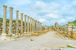 The streets of Perge Royalty Free Stock Photos