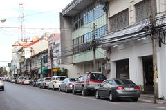 Streets of Phuket Town Stock Photo