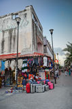 Streets of Playa del Carmen Royalty Free Stock Photography