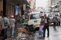 Streets of Port Louis, Mauritius Royalty Free Stock Images