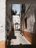 Streets of Portugal. Beautiful street in Évora city Stock Images