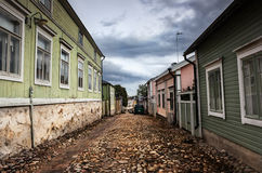 Streets of Porvoo, Finland Stock Images