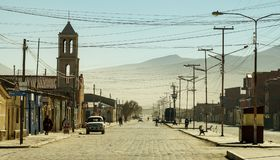 Streets of Potosi in Bolivia. Streets of Potosi in Bolivia near the Salt Flats stock image